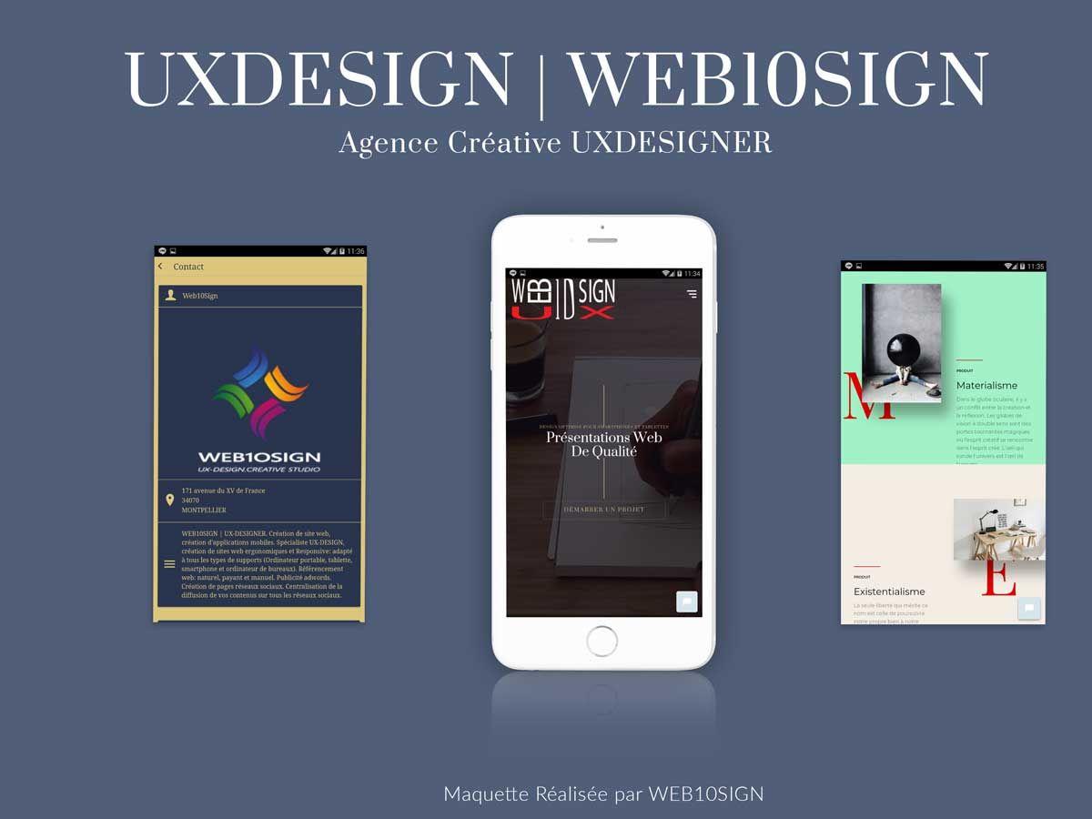 Réalisation Graphique Web10sign