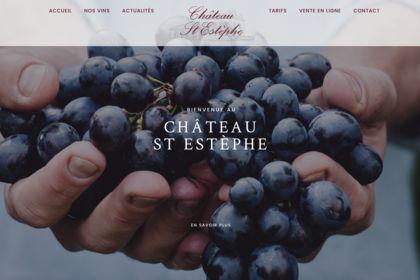Site internet chateau Saint Estephe