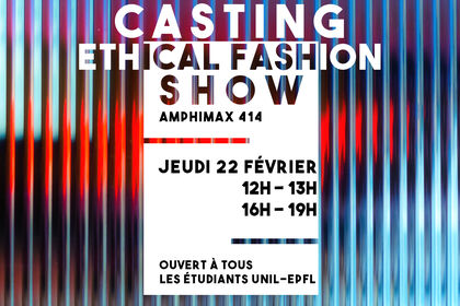 Casting ethical fashion show