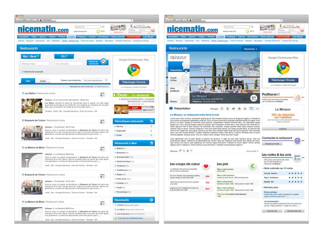 Nice Matin : Webdesign
