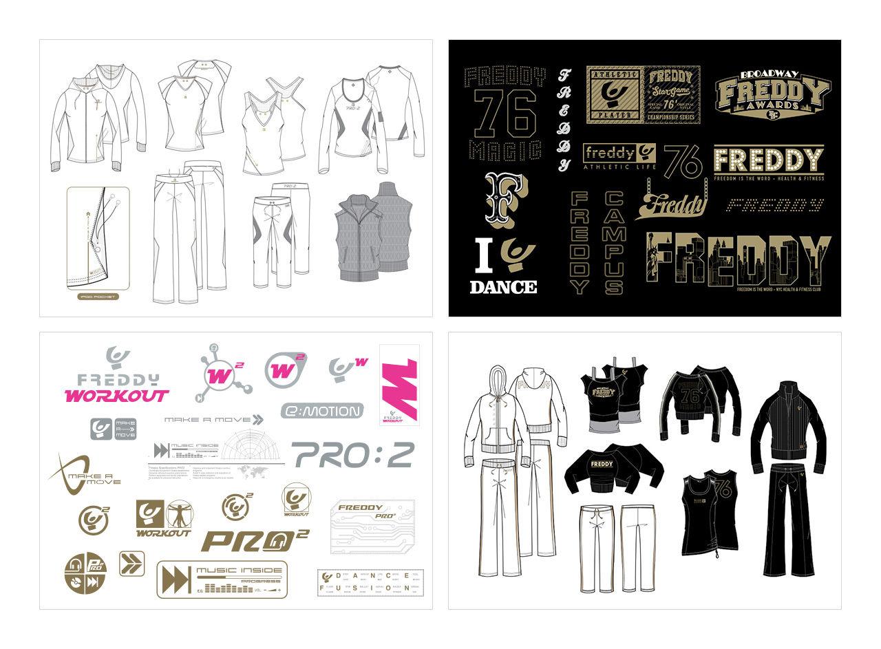 Dessins de mode pour la marque Freddy