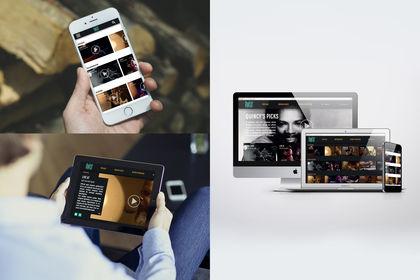 """Web Design """"Qwest TV"""""""