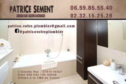 Recto Carte Visite Patrice Sement Plombier