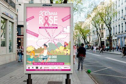 Affiche pour le X Cross Octobre Rose