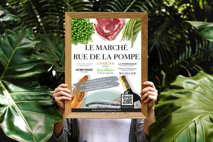 Affiche Marché Rue de la Pompe