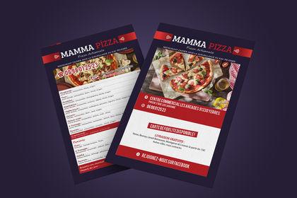 Flyer & Menu Mamma pizza