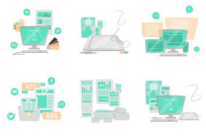 Illustrations services digitaux