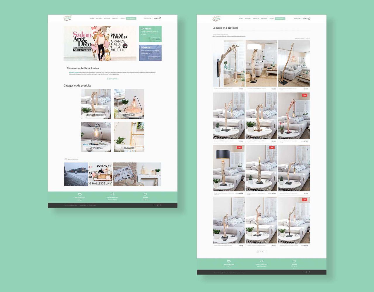Site e-commerce   Ambiance & Nature