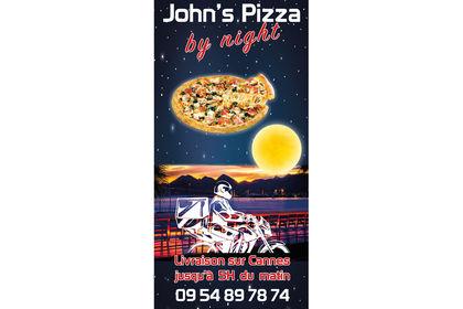 John's Pizza by Night