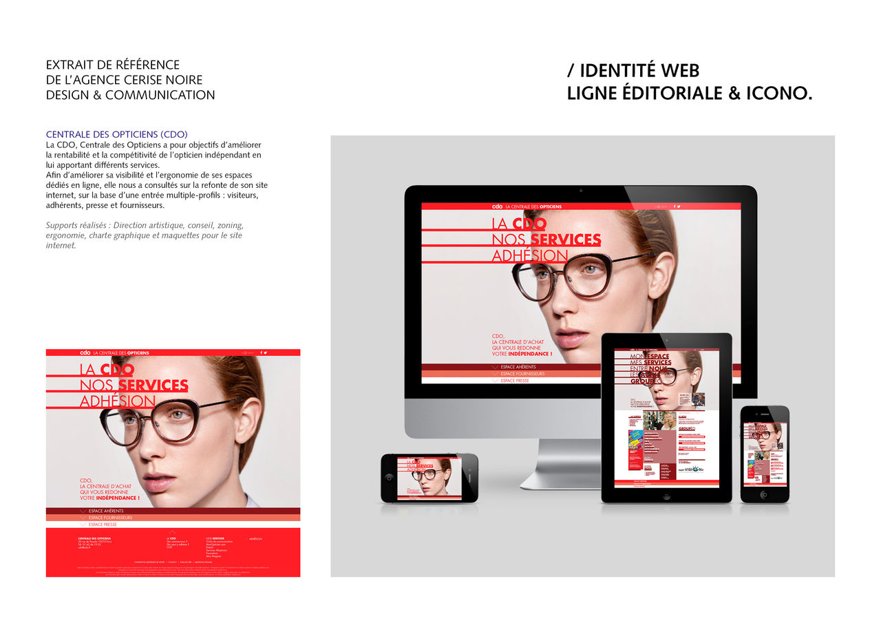 Web design Centrale des Opticiens (CDO)