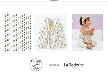 Design textile all-over La Redoute baby