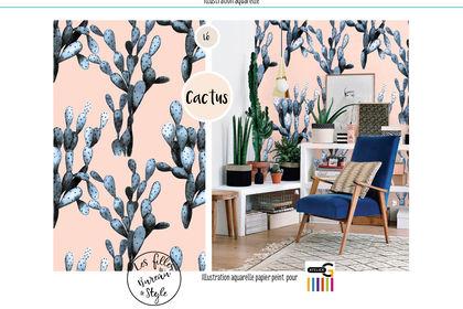 Papier peint - thème Cactus.