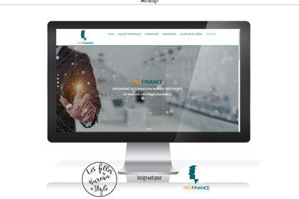 Desin web pour site Profinance
