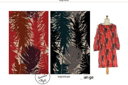 Design textile plume