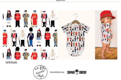 Garde royale design textile