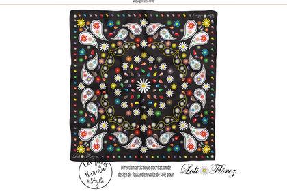 Foulard design textile pour Loli Flõrez
