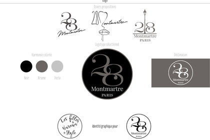 Logotype 28 Montmartre Paris