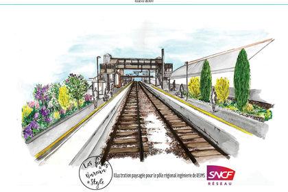 Illustration paysagée projet gare de Nogent/seine