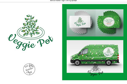 VeggiePot foodtruck  logo, covering et carte