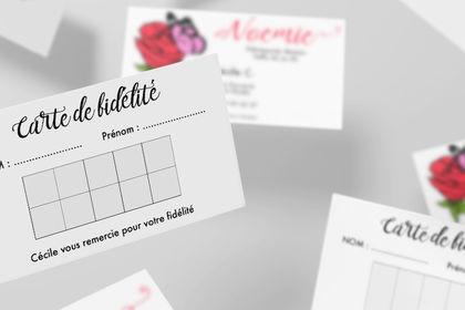 Boutique Noémie - Carte de fidélité