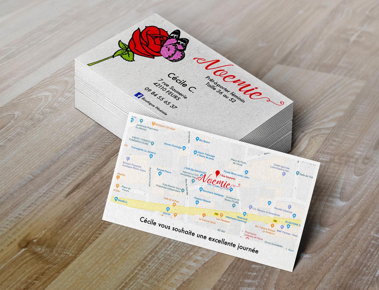 Boutique Noémie - Cartes de visite