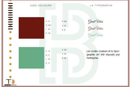 Code couleut et la Typographie