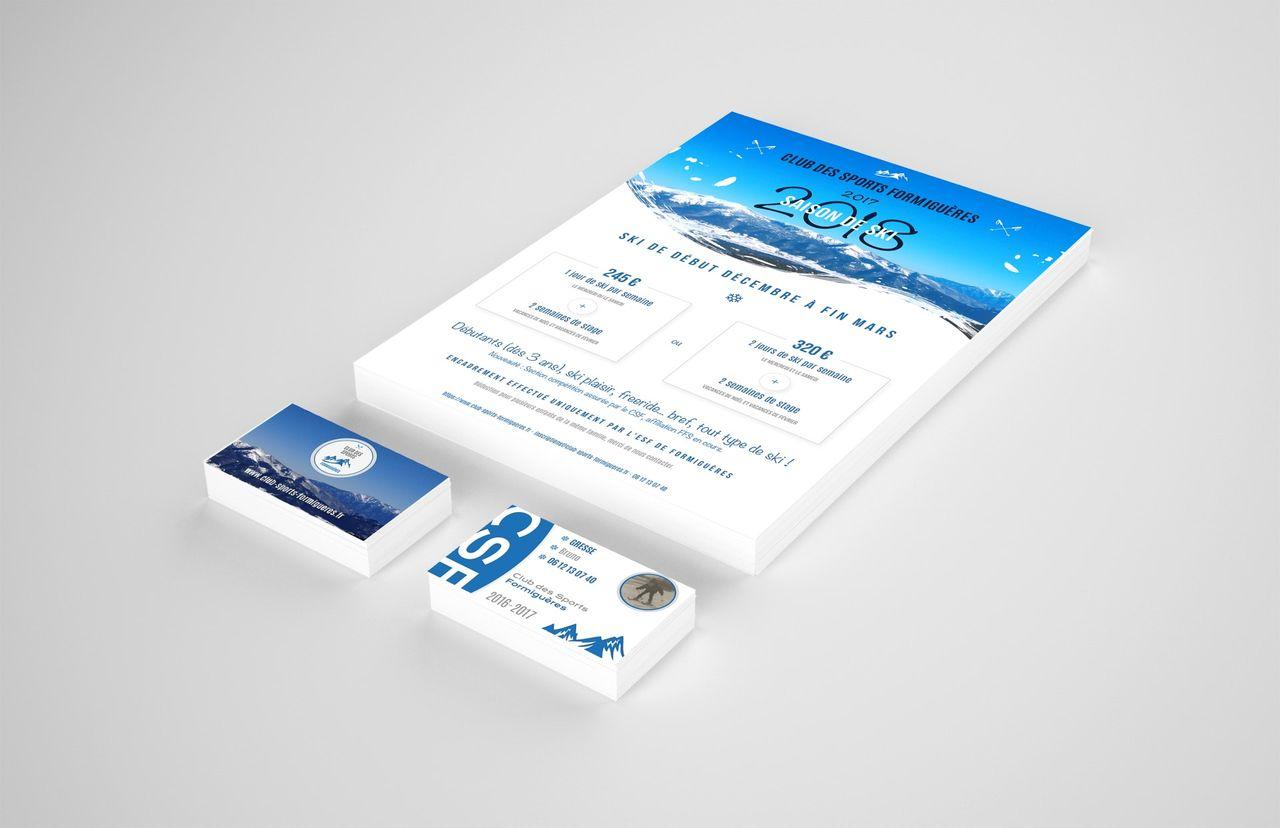 Création de Flyer et cartes de membres CSF