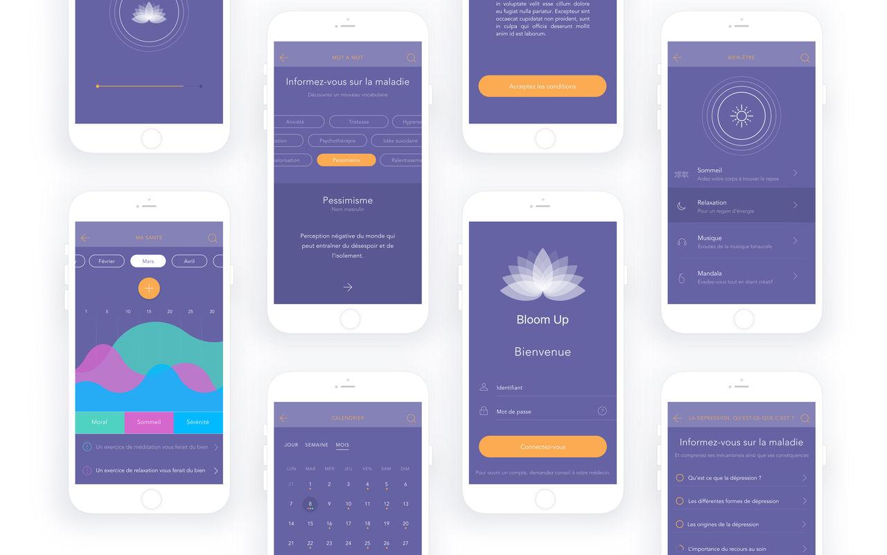 Bloom Up - Design UX/UI - Ergonomie