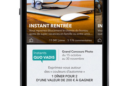 Application mobile pour Quo Vadis