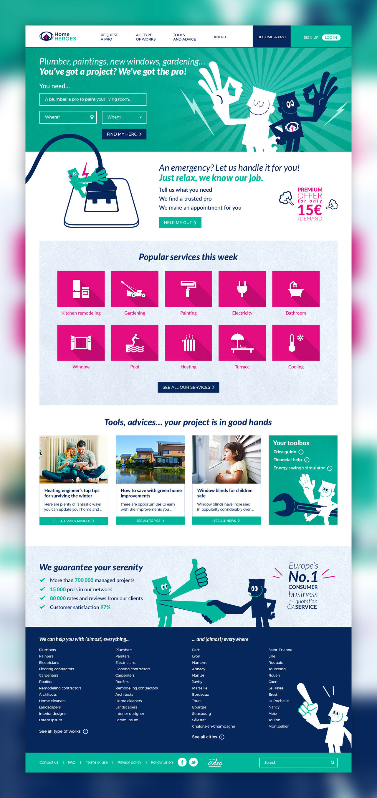 Refonte du site Home Heroes