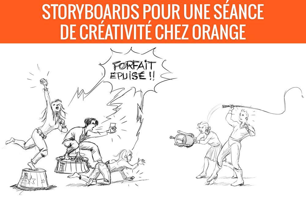 Séance de créativité pour Orange