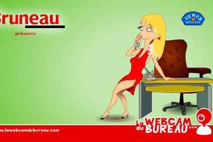 Web-série animée La webcam du bureau pour Bruneau