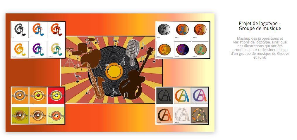 Planche de propositions d'illustrations & logo -NP