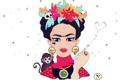 Frida Khalo by NP - Illustration vectorielle