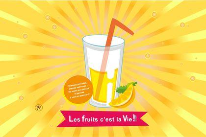 Publicité pour un jus d'orange by NP