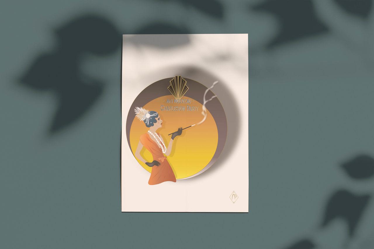 Illustration Femme des années 20