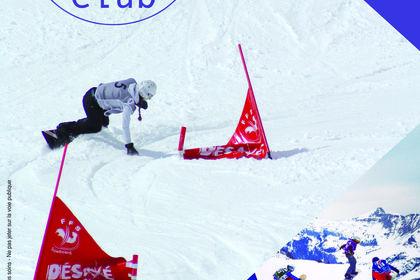AFFICHE CLUB DE SNOWBOARD