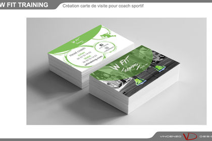 Cartes de visite pour coach sportif