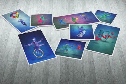 Illustrations projet de théâtre clownesque