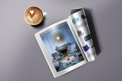 Maquette et photomontage dble page format magazine