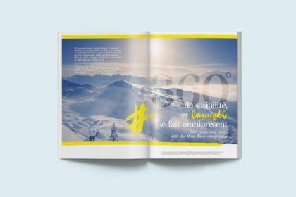Conception et réalisation brochure ski