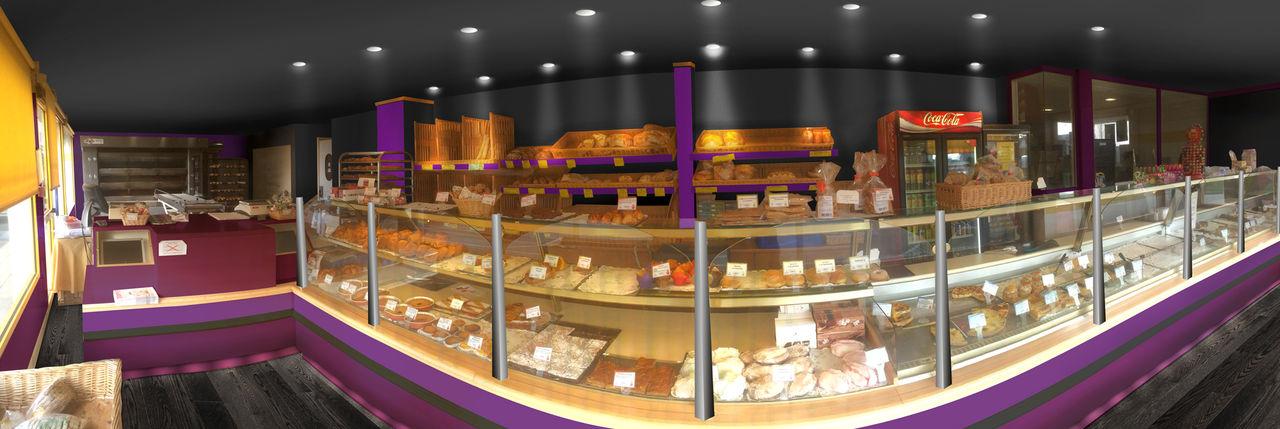 Aménagement intérieur d'une boulangerie