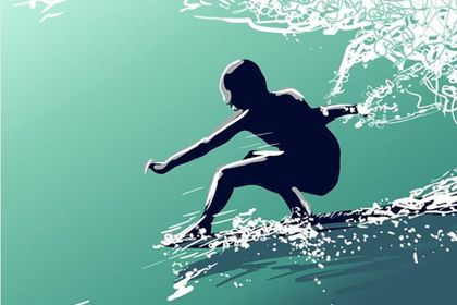 Illustration surf