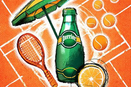 Illustration Perrier / Roland Garros