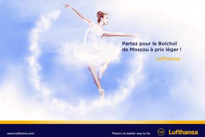 Affiche campagne métro - Lufthansa