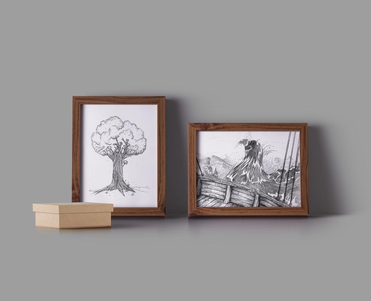 Illustration graphite & stylo à bille
