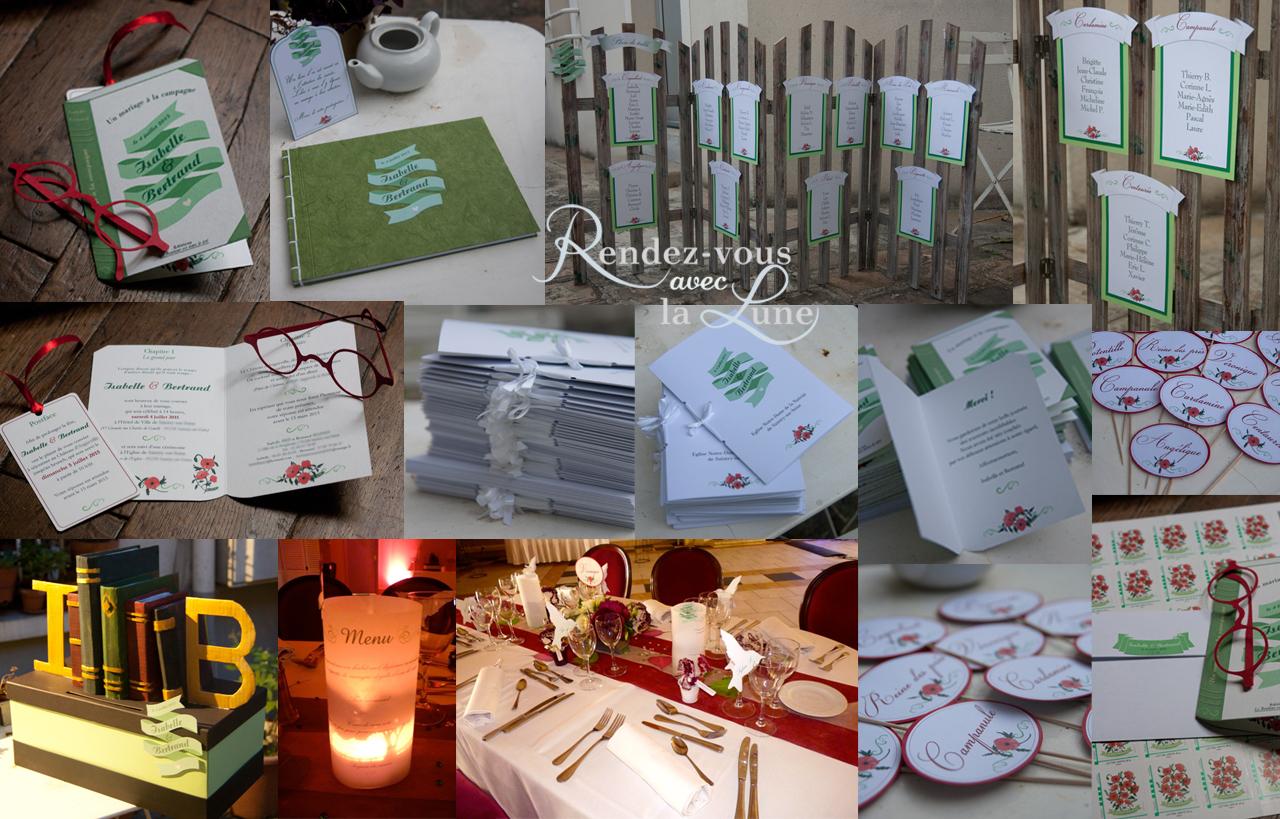 Faire-part et décorations de mariage