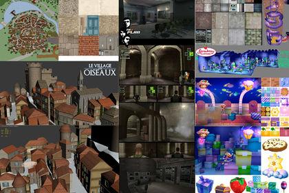Jeu video : décors et personnages