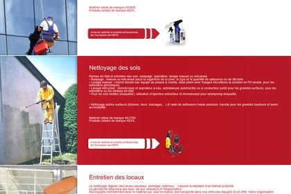 Webdesign du site Proclean