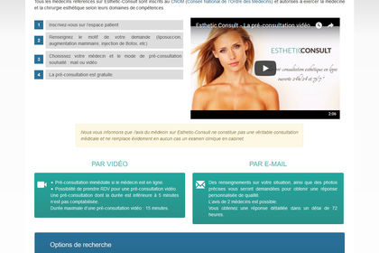 Création du site Esthetic-Consult
